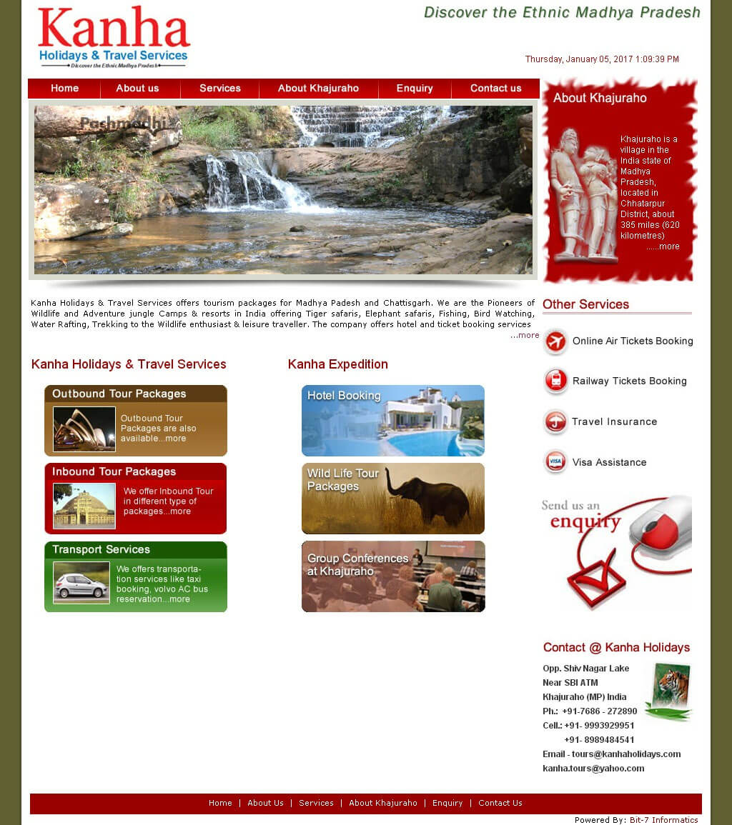 Bit-7 Informatics com designs professional Website for non