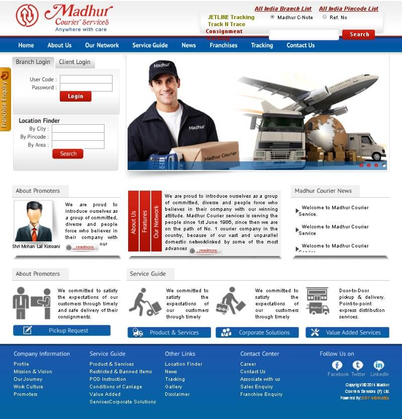 Bit-7 Informatics design for Courier & Cargo services